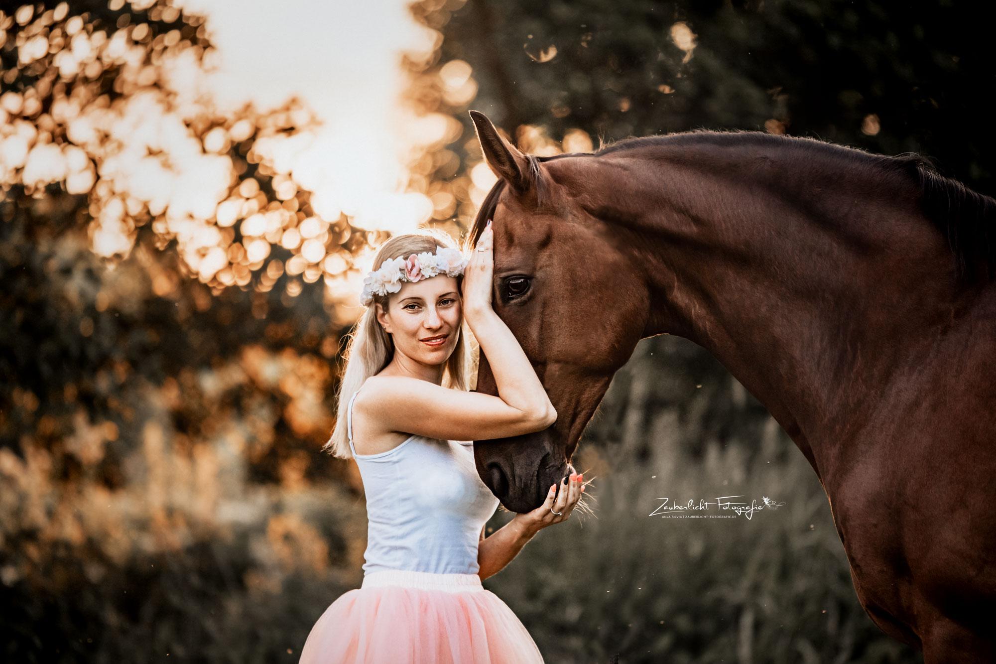 Ballerina und Pferd