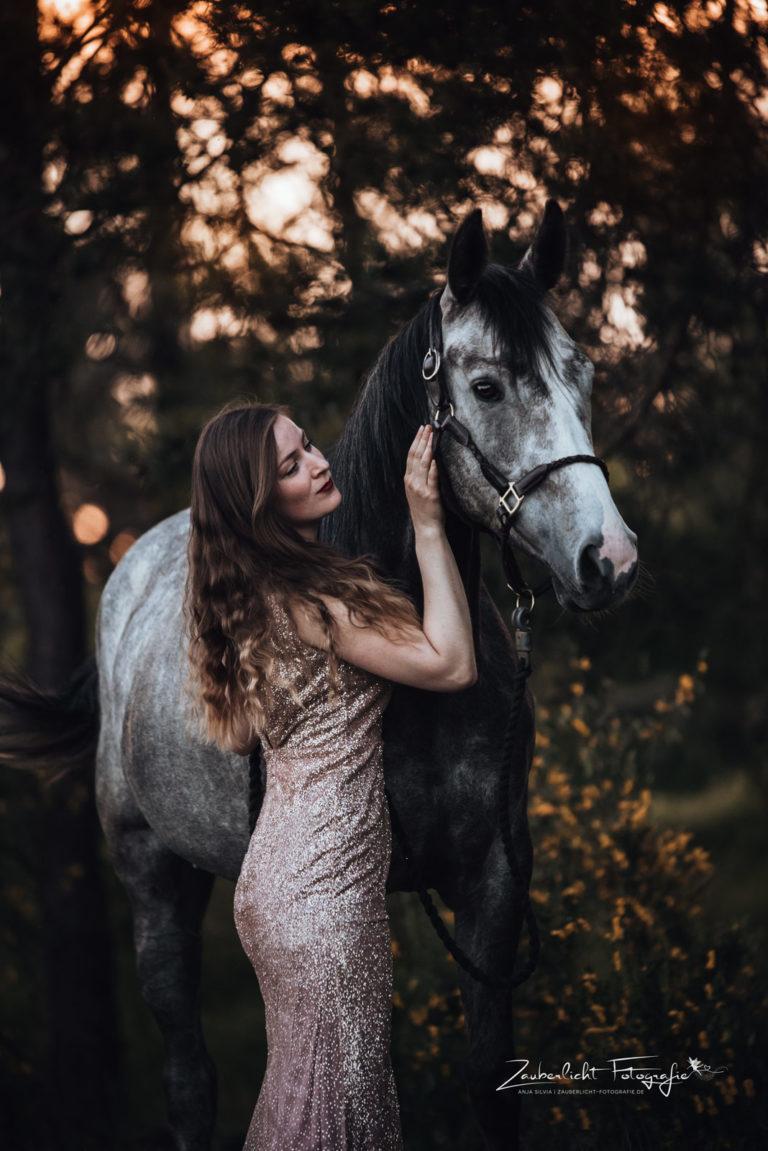 Pferdefotograf mit Zauberlicht
